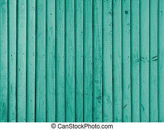 Emerald wooden wall