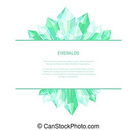 Emeralds Natural Resources Poster Precious Stones