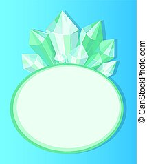 Emeralds Natural Resources Poster with Oval Frame