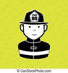 emergência, ícone, desenho