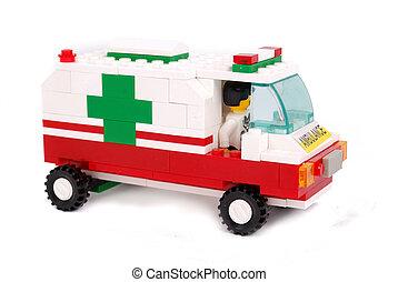 emergência, ambulância, car