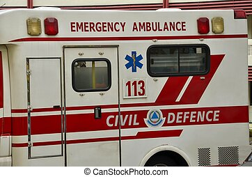emergência, ambulância, salve veículo