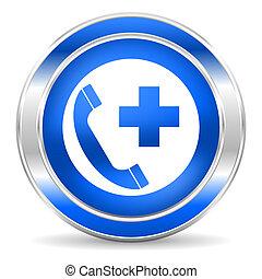 emergência, chamada, ícone