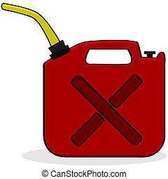 emergência, combustível, fornecer