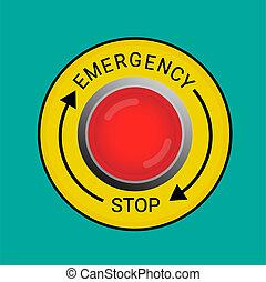 emergência, parar tecla