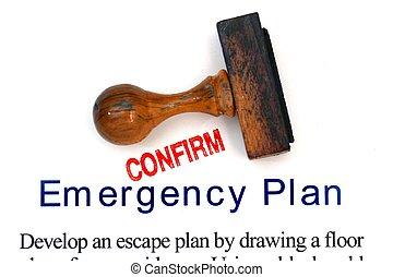 emergência, plano