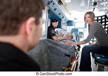 emergência, sênior, cuidado médico
