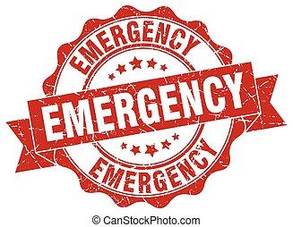 emergência, stamp., sinal., selo