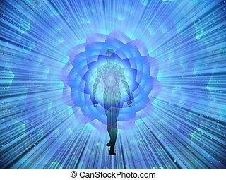 emerge, figura, luce
