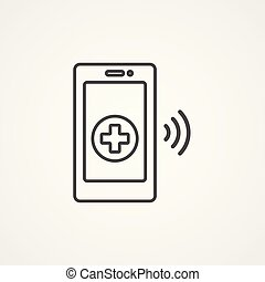 emergecy call vector icon sign symbol