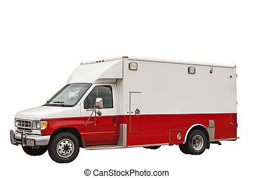 emergencia, ambulancia, furgoneta