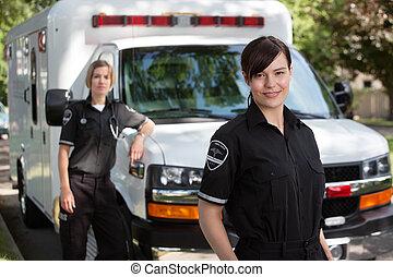 emergencia, equipo médico