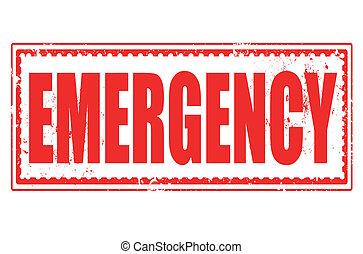 emergencia, estampilla