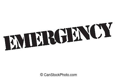 emergencia, estampilla, typ