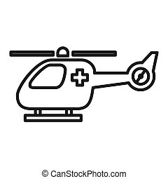 emergencia, helicóptero, ilustración, diseño