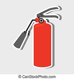 emergencia, icono, diseño