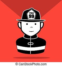 emergencia, iconos, diseño