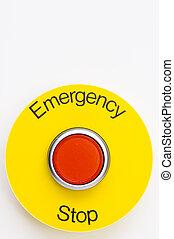 emergencia, parada, interruptor