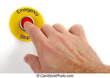 emergencia, parada