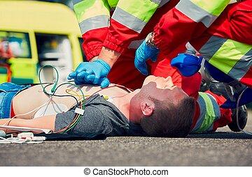 emergencia, servicio médico