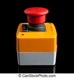 emergencia, stop botón