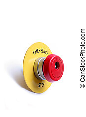 emergencia, stop botón, interruptor