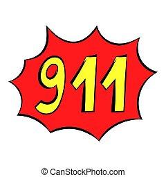 Emergency 911 icon, icon cartoon