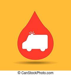 emergency ambulance hands care medical icon