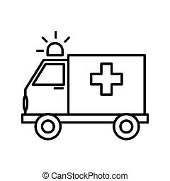 emergency ambulance service , vector