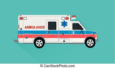 Emergency ambulance vector illustration