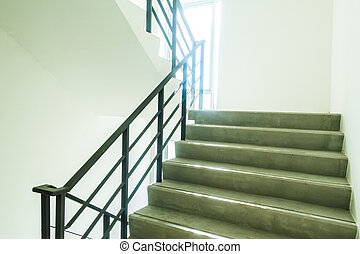 Emergency and evacuation exit stair