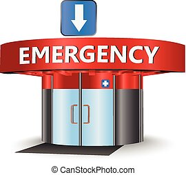 Emergency building as a concept symbol