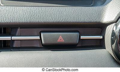 Emergency button on modern car.