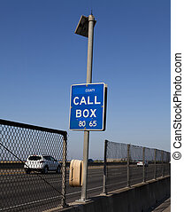 Emergency Call Box Solar Powered Along Side Of Highway