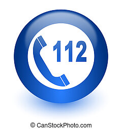 emergency call computer icon on white background