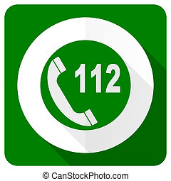 emergency call flat icon 112 call sign