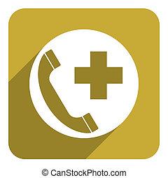 emergency call flat icon