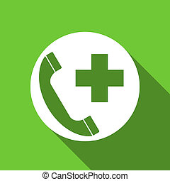 emergency call flat icon