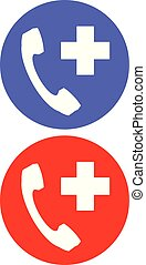 Emergency Call Icon set