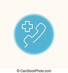 Emergency call icon sign symbol