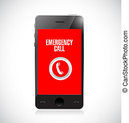 emergency call phone icon illustration