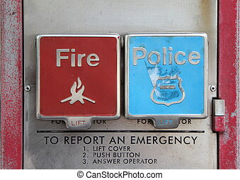 Emergency Call Post for Fire and Police Department