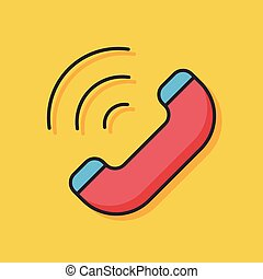 emergency call vector icon