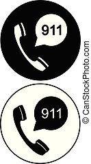 Emergency calling service set icon