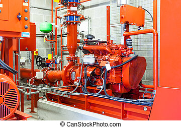 emergency diesel generator - burning diesel generator for a...