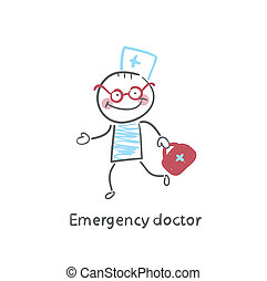 Emergency doctor runs