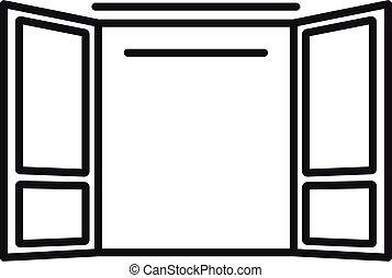 Emergency door icon, outline style