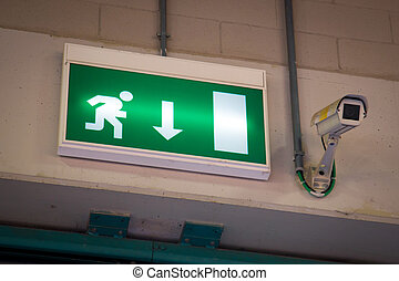 Emergency exit and Security Camera