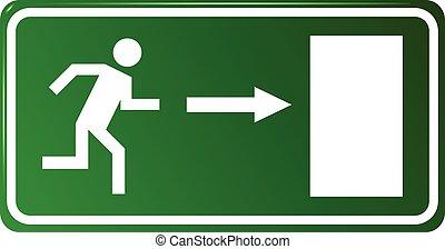 Emergency exit door,