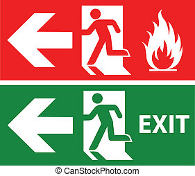 Emergency exit - Emergency fire exit door and exit door